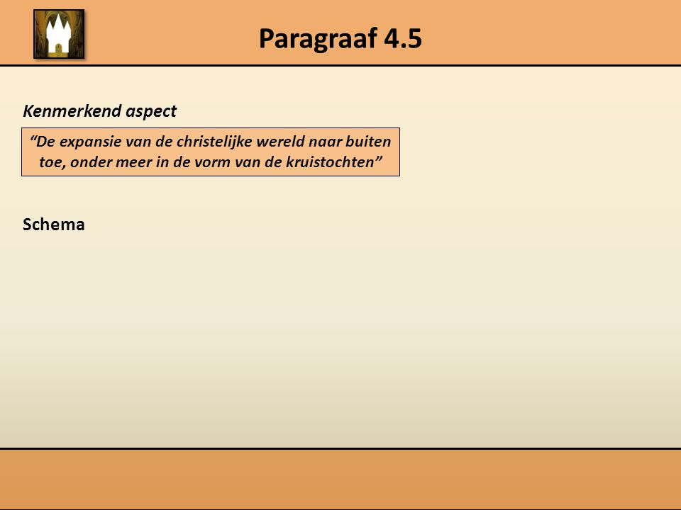Paragraaf 4.5 Kenmerkend aspect Schema