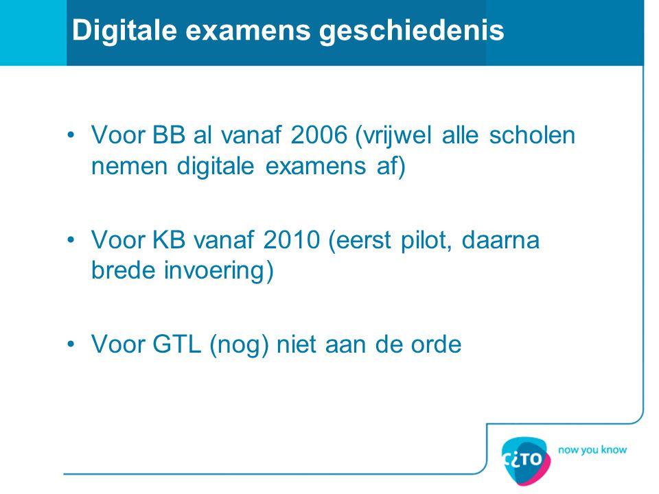 Digitale examens geschiedenis
