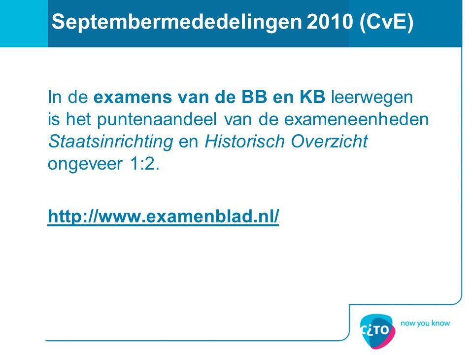 Septembermededelingen 2010 (CvE)