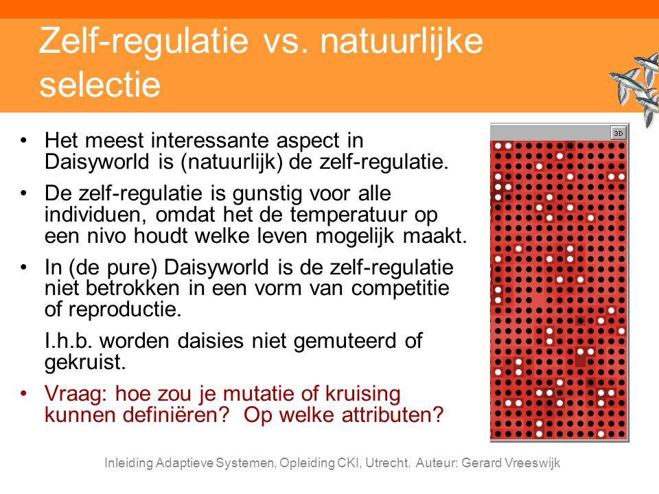 Zelf-regulatie vs. natuurlijke selectie