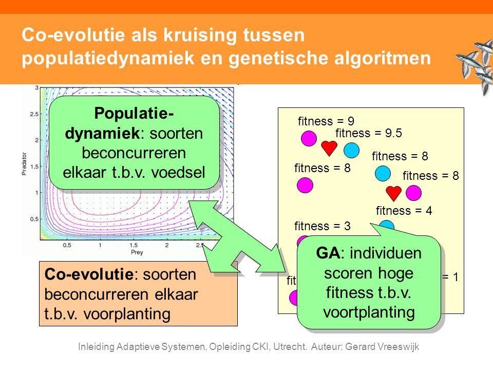 Co-evolutie als kruising tussen populatiedynamiek en genetische algoritmen