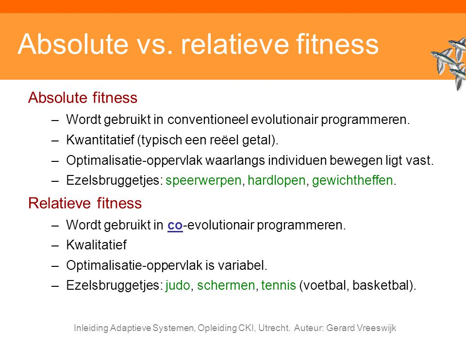 Absolute vs. relatieve fitness