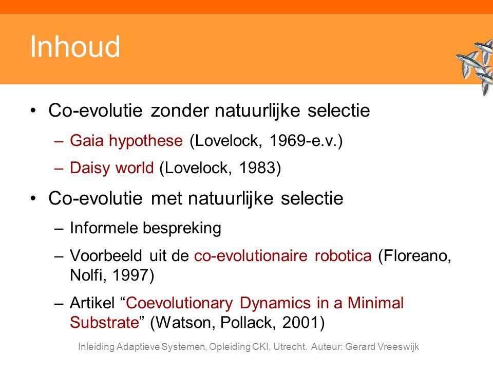 Inhoud Co-evolutie zonder natuurlijke selectie