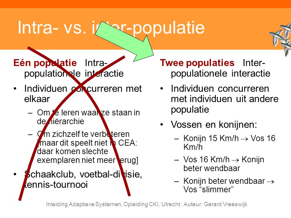 Intra- vs. inter-populatie