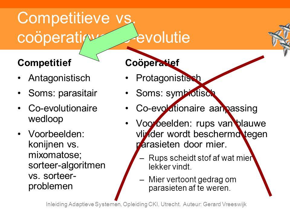 Competitieve vs. coöperatieve co-evolutie