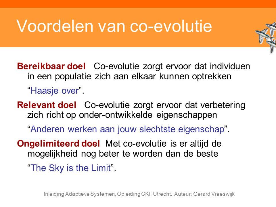 Voordelen van co-evolutie