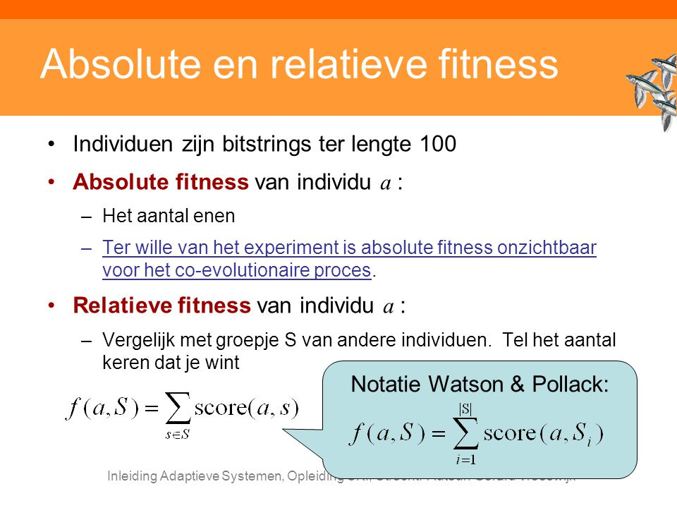 Absolute en relatieve fitness