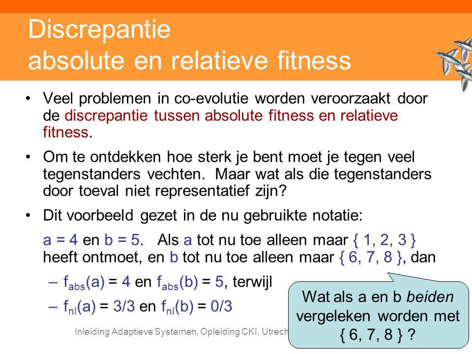 Discrepantie absolute en relatieve fitness