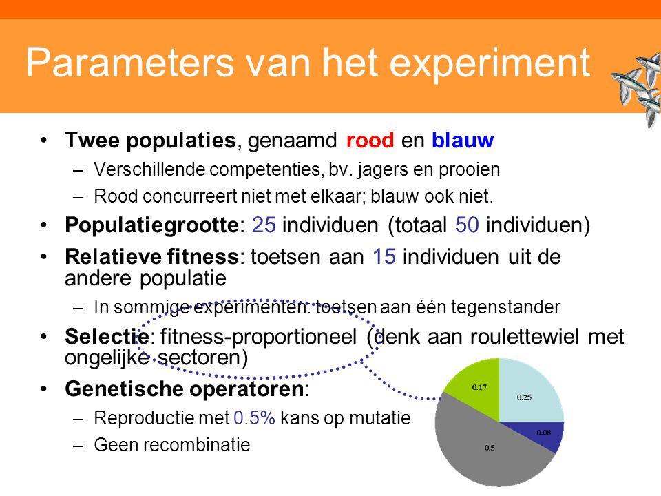 Parameters van het experiment