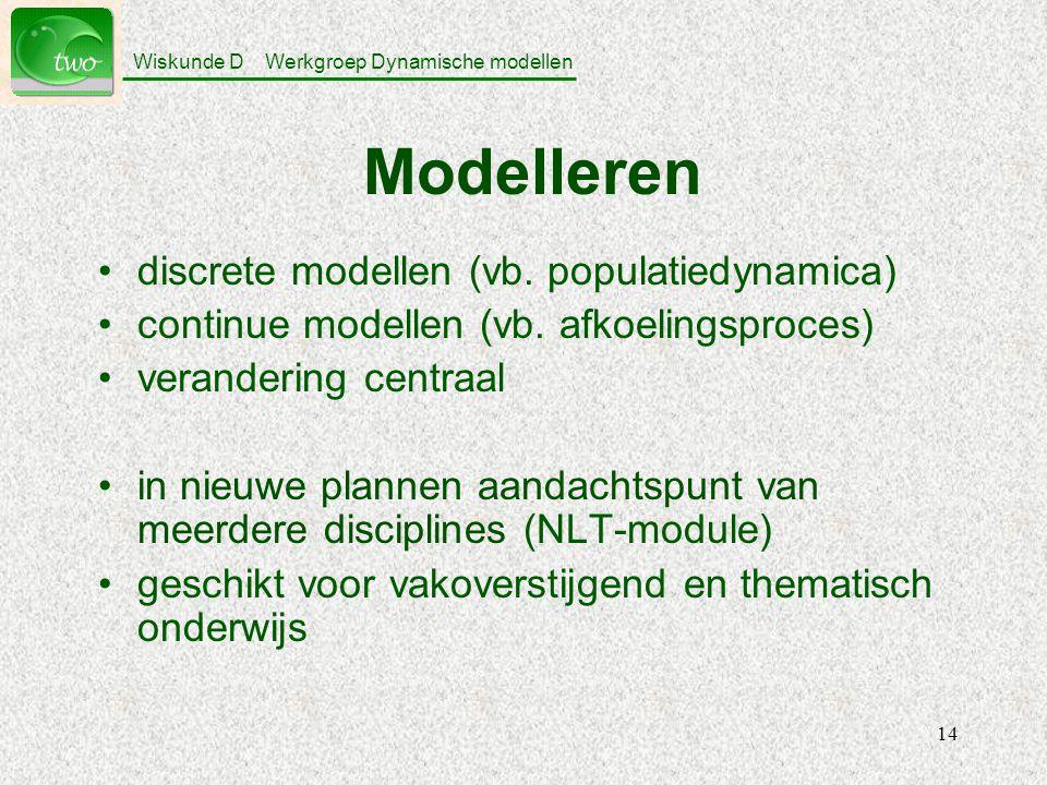 Modelleren discrete modellen (vb. populatiedynamica)
