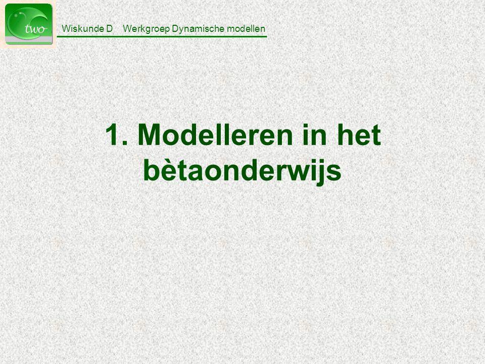 1. Modelleren in het bètaonderwijs
