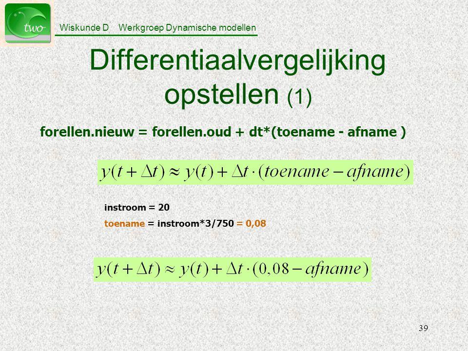 Differentiaalvergelijking opstellen (1)