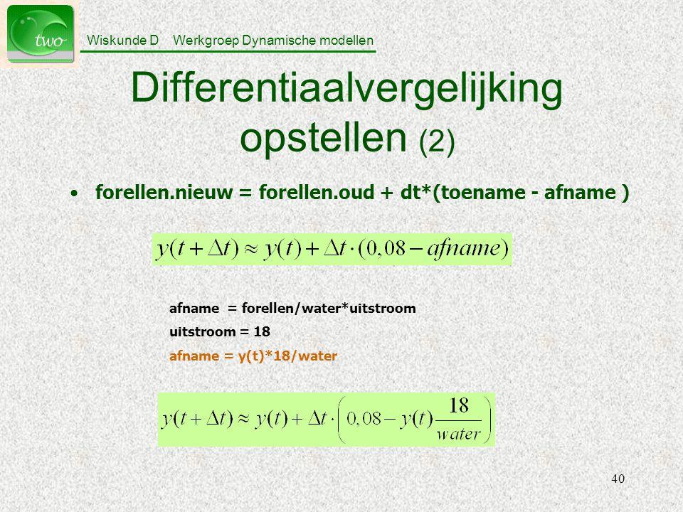 Differentiaalvergelijking opstellen (2)