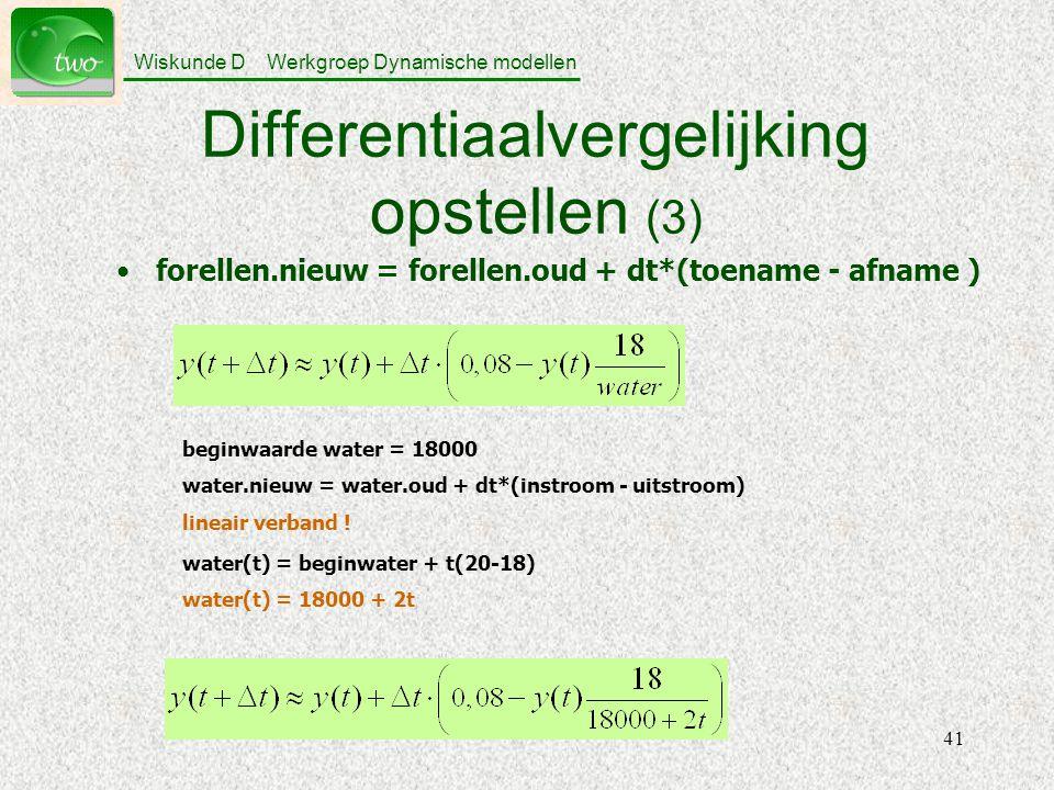 Differentiaalvergelijking opstellen (3)