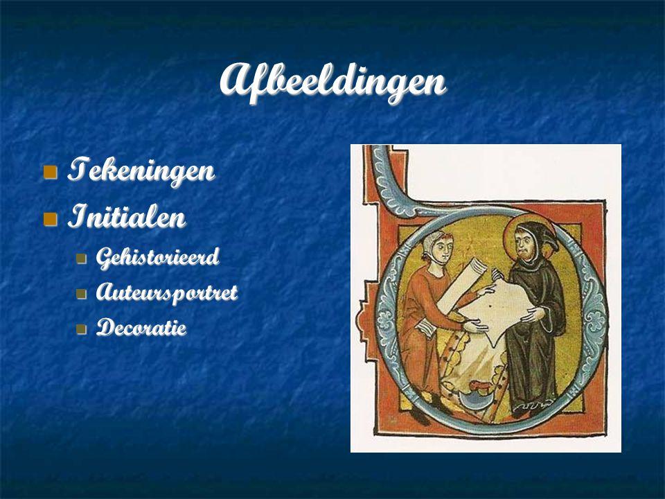 Afbeeldingen Tekeningen Initialen Gehistorieerd Auteursportret