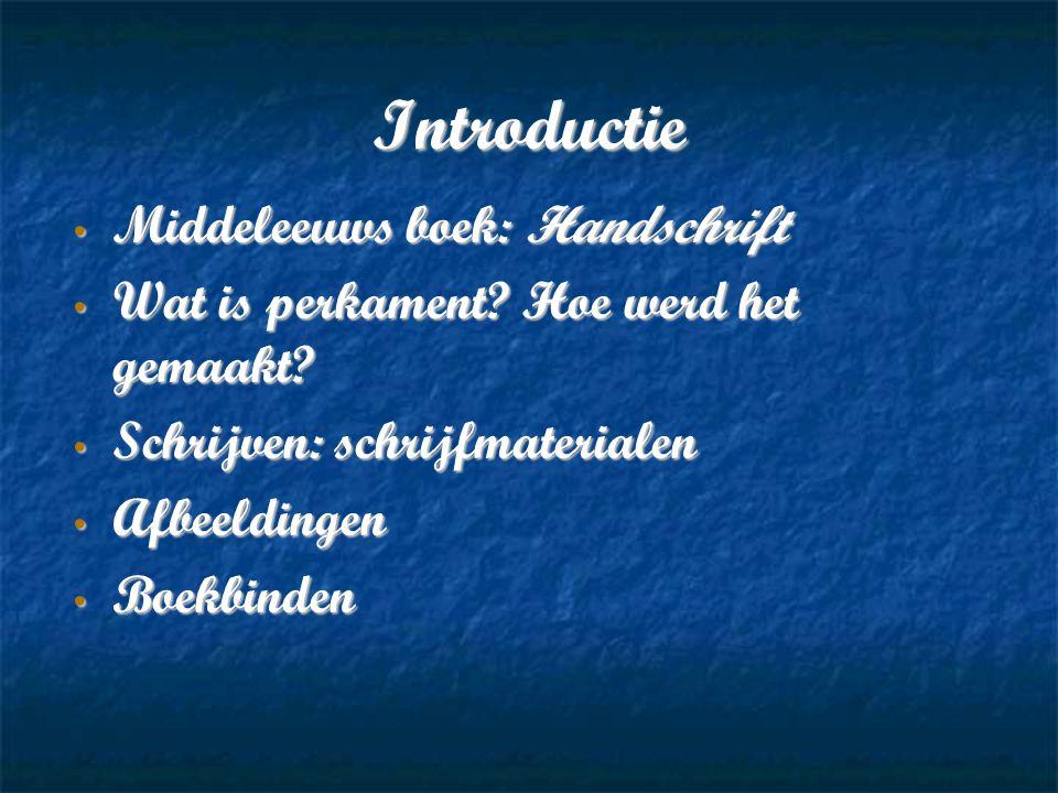 Introductie Middeleeuws boek: Handschrift