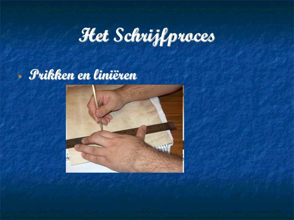 Het Schrijfproces Prikken en liniëren