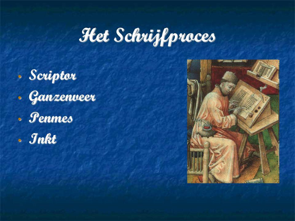 Het Schrijfproces Scriptor Ganzenveer Penmes Inkt