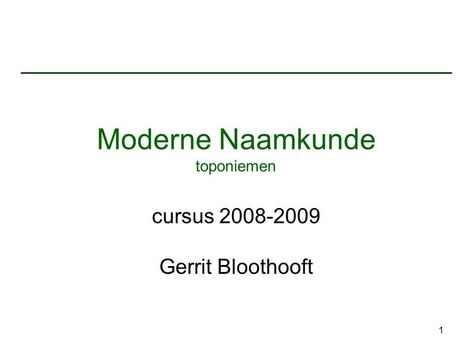 Moderne Naamkunde toponiemen