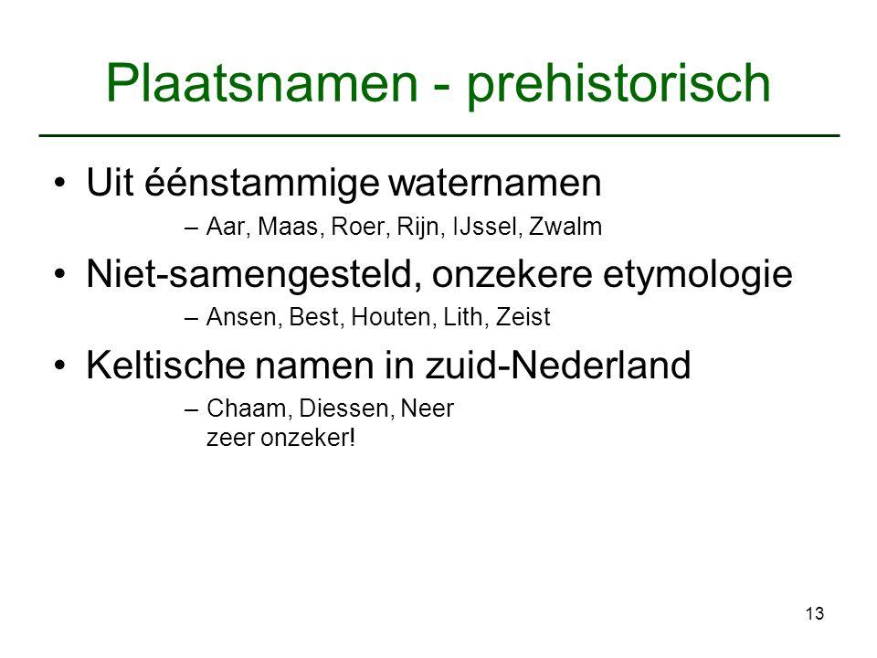 Plaatsnamen - prehistorisch
