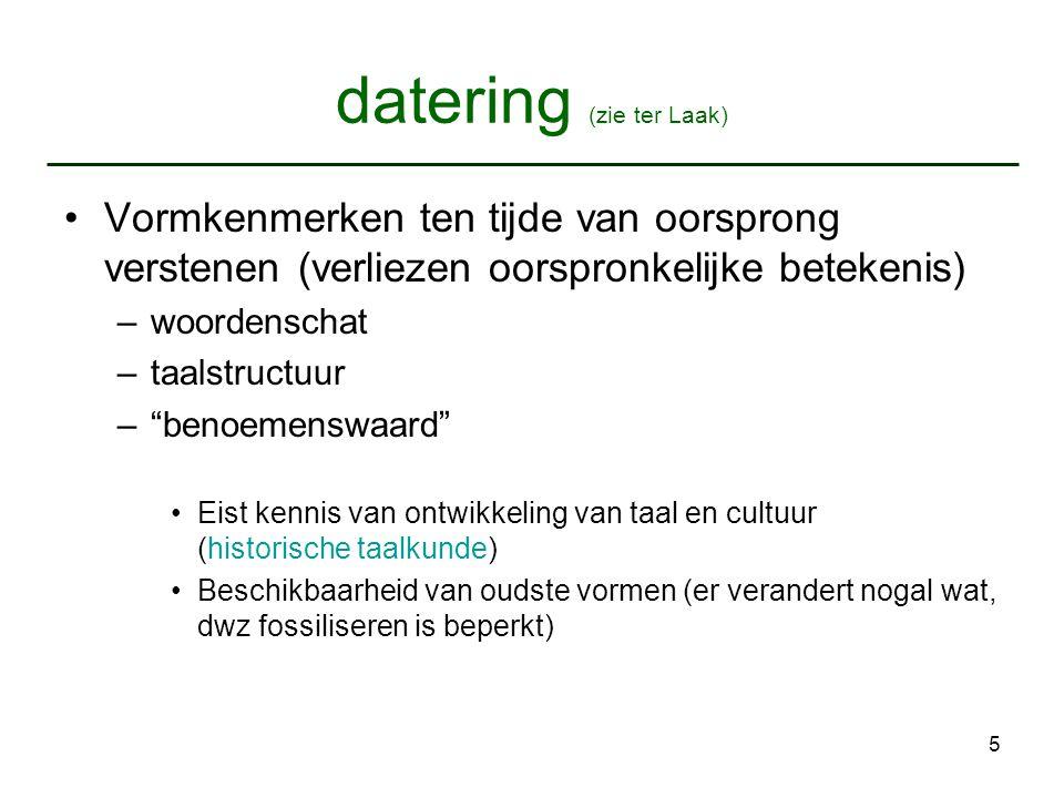 datering (zie ter Laak)