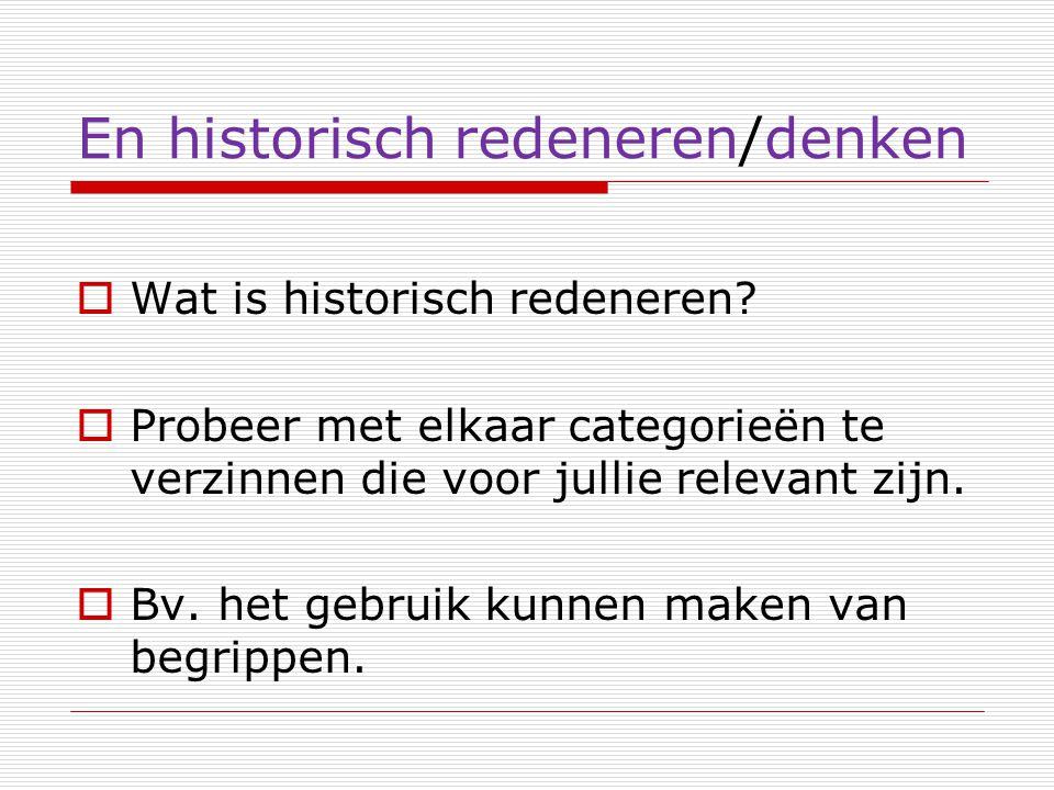 En historisch redeneren/denken