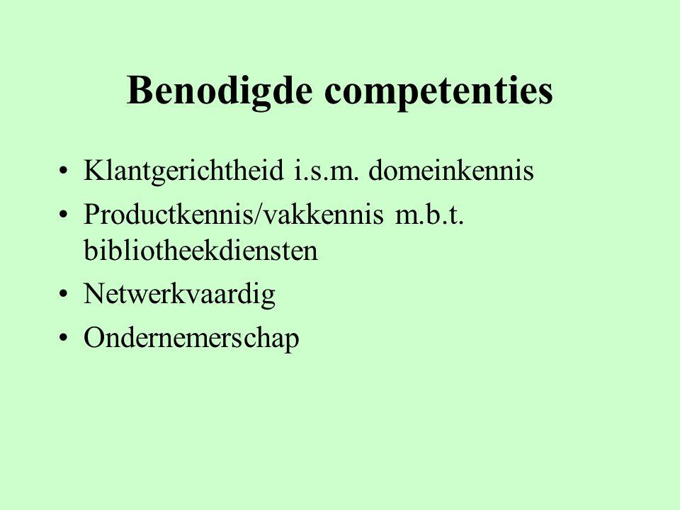 Benodigde competenties