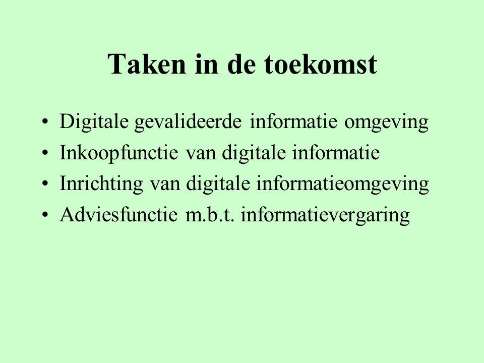 Taken in de toekomst Digitale gevalideerde informatie omgeving