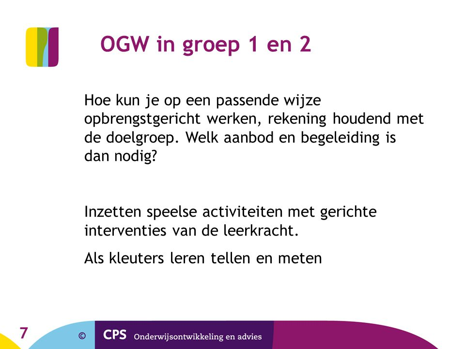 OGW in groep 1 en 2