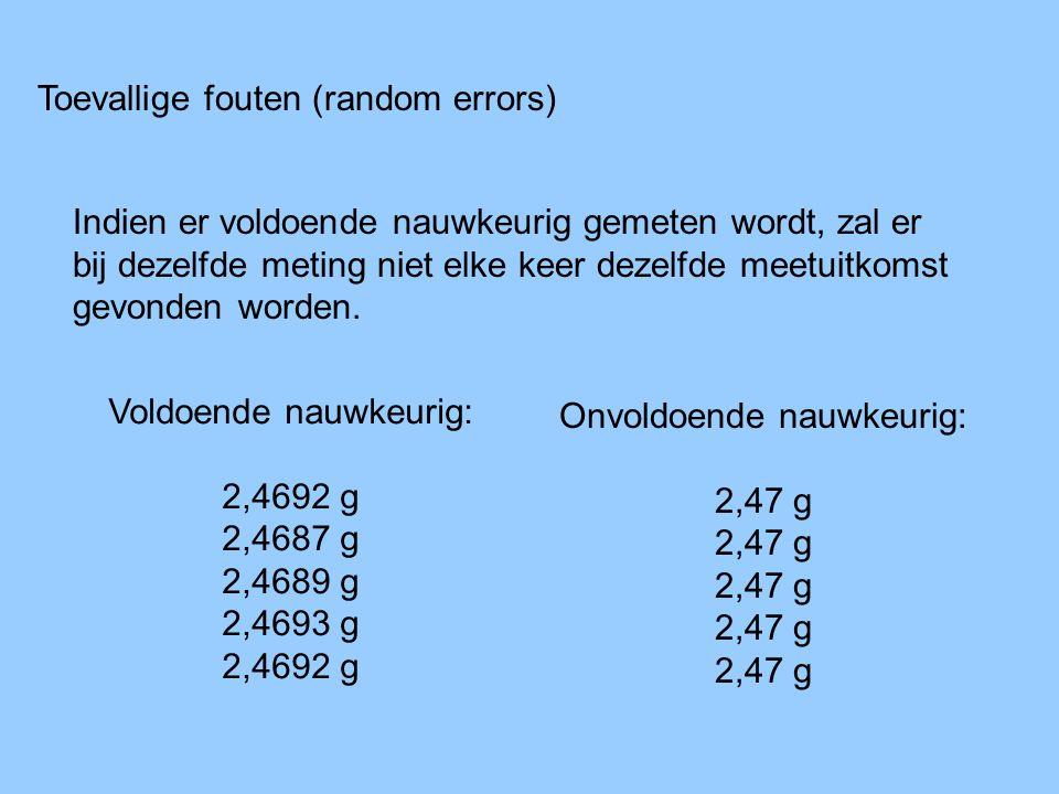Toevallige fouten (random errors)