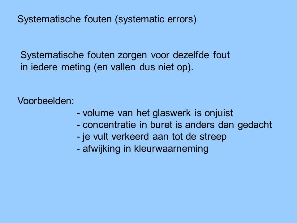 Systematische fouten (systematic errors)