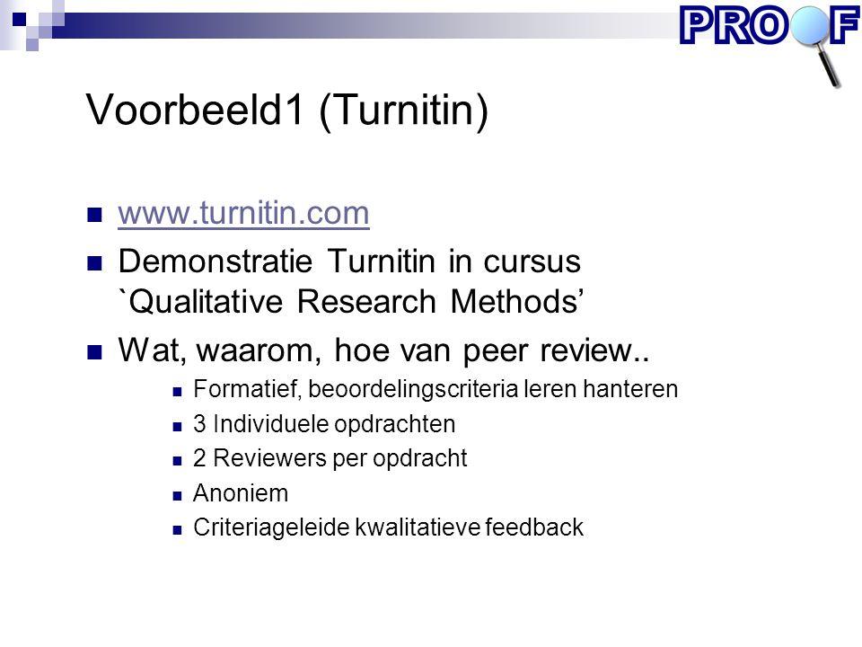 Voorbeeld1 (Turnitin) www.turnitin.com