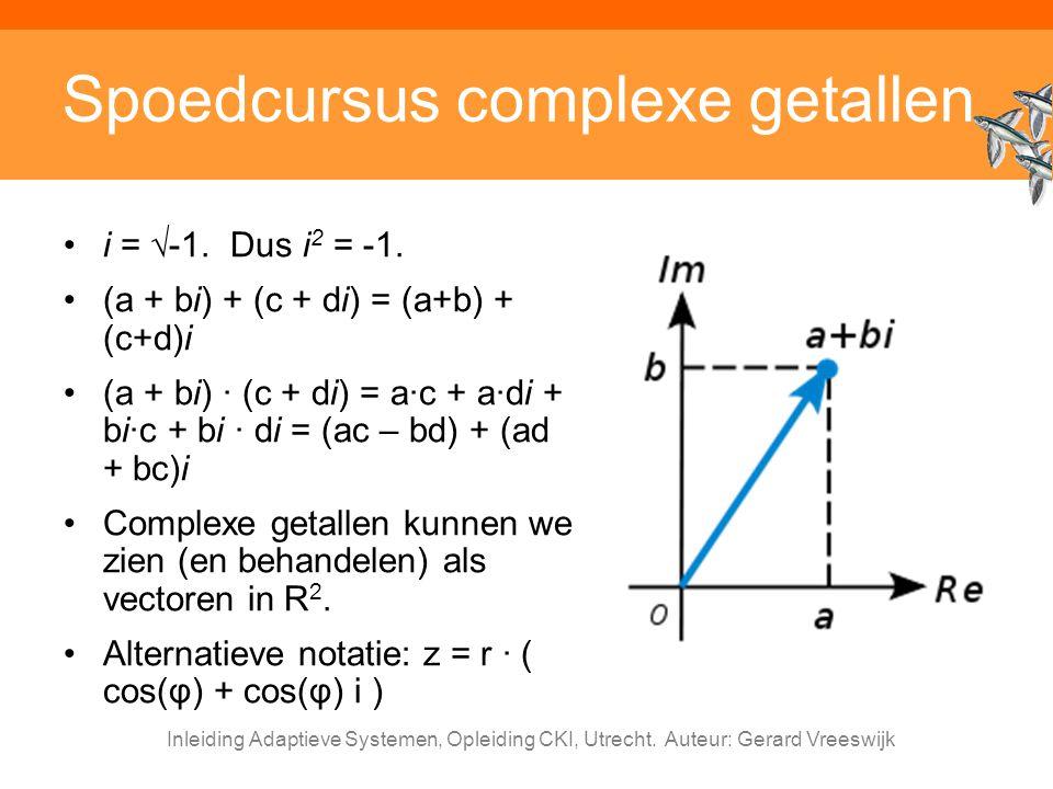 Spoedcursus complexe getallen