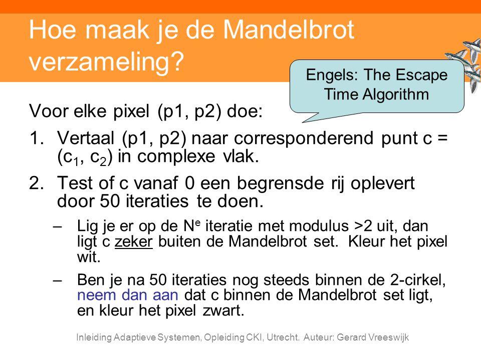 Hoe maak je de Mandelbrot verzameling