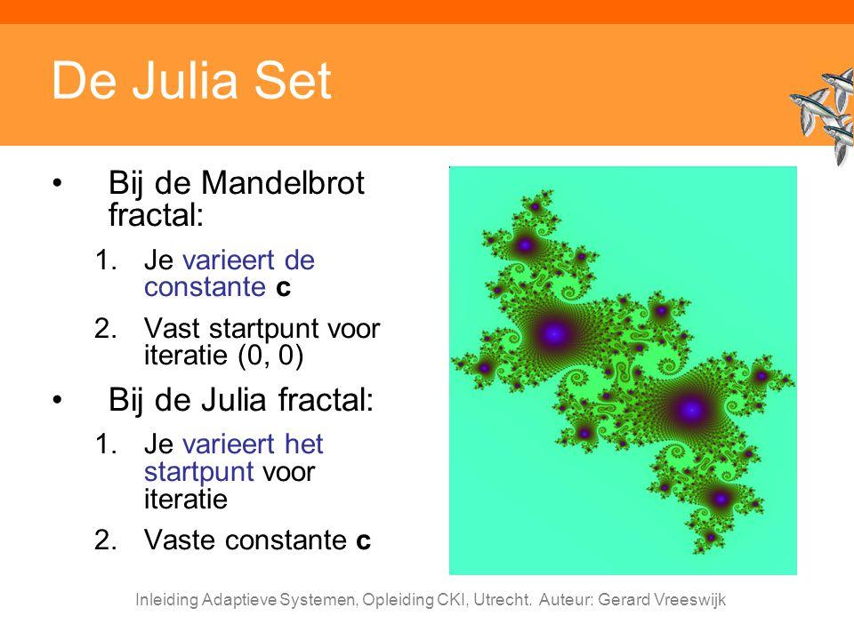 De Julia Set Bij de Mandelbrot fractal: Bij de Julia fractal: