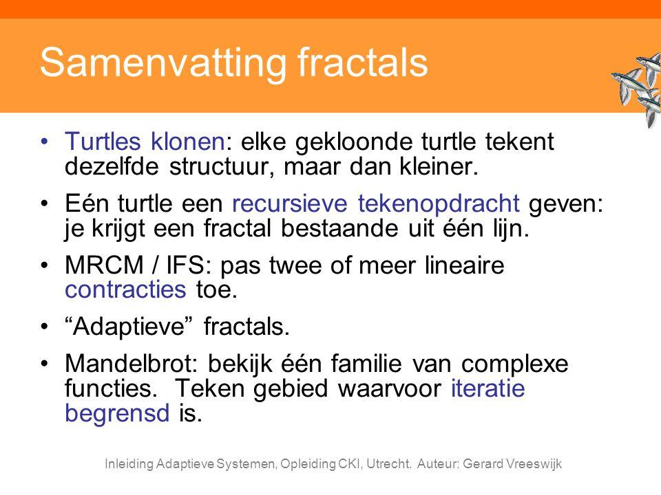 Samenvatting fractals