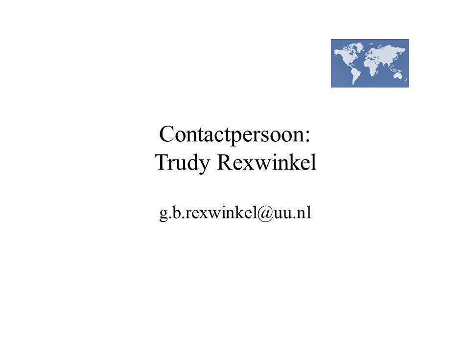 Contactpersoon: Trudy Rexwinkel