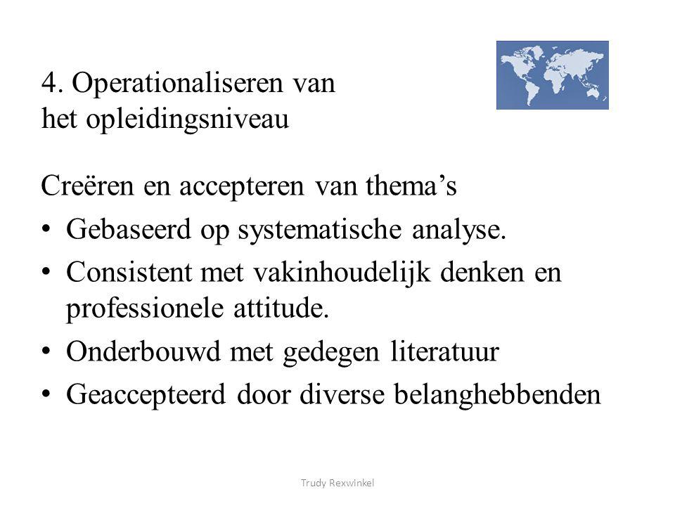 4. Operationaliseren van het opleidingsniveau