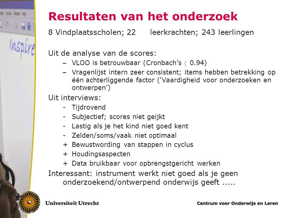 Resultaten van het onderzoek