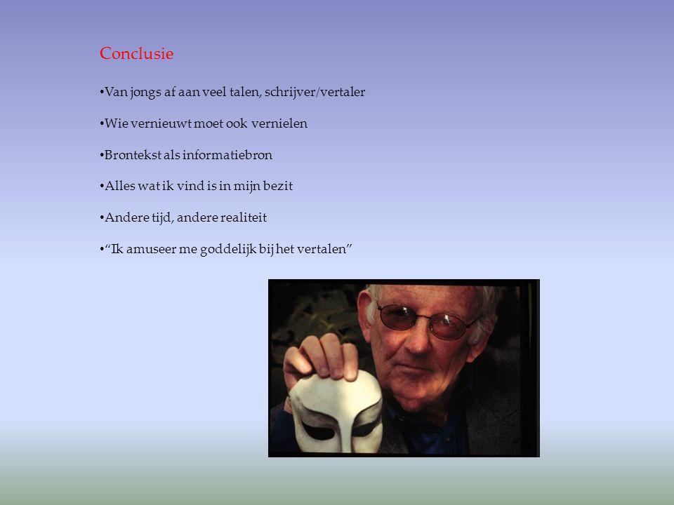 Conclusie Van jongs af aan veel talen, schrijver/vertaler