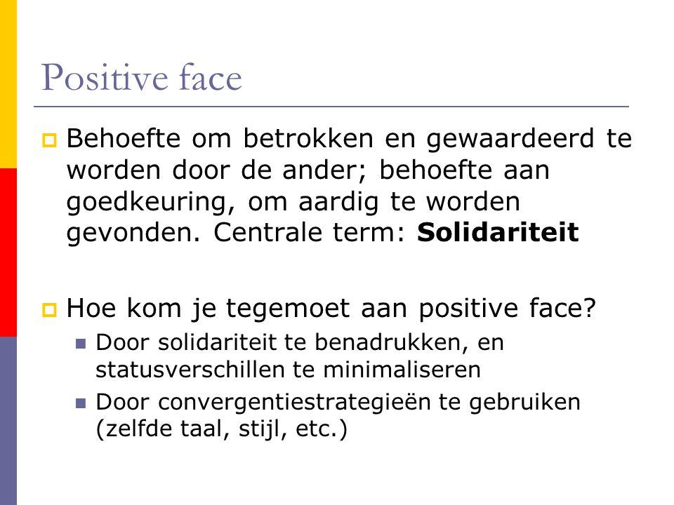Positive face