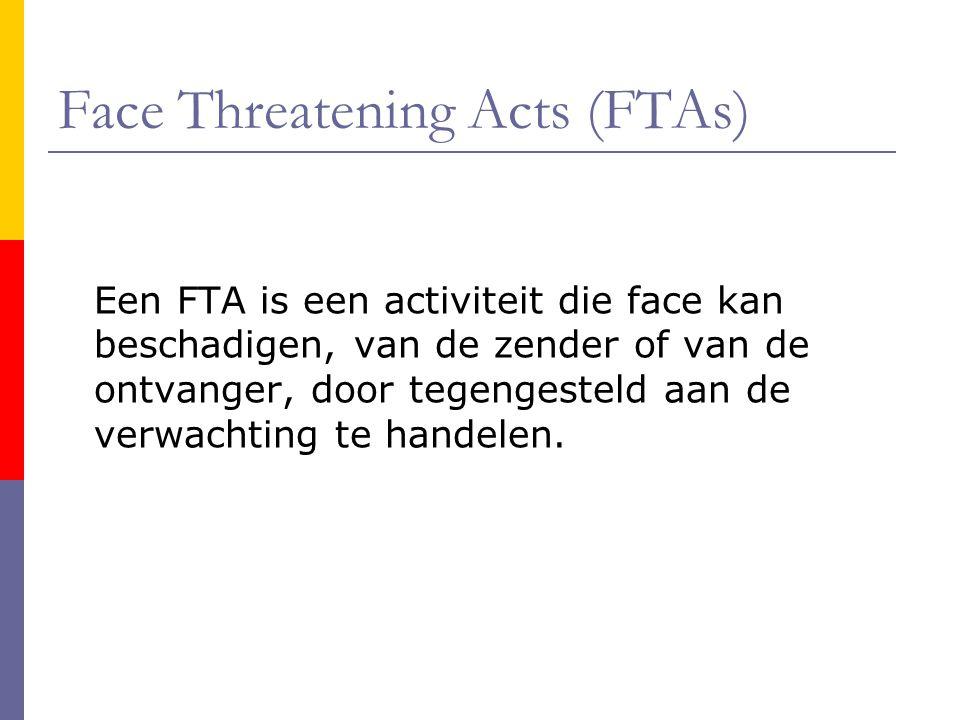Face Threatening Acts (FTAs)