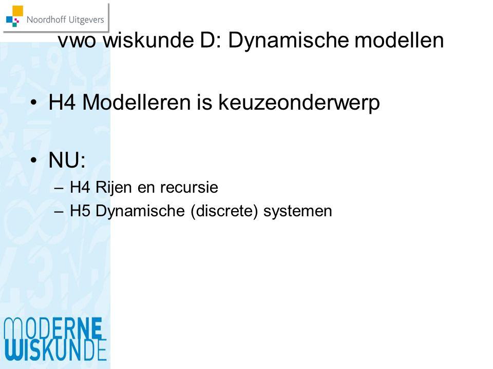 vwo wiskunde D: Dynamische modellen