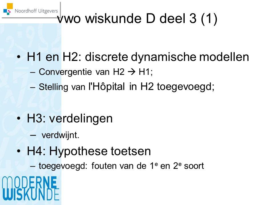 vwo wiskunde D deel 3 (1) H1 en H2: discrete dynamische modellen