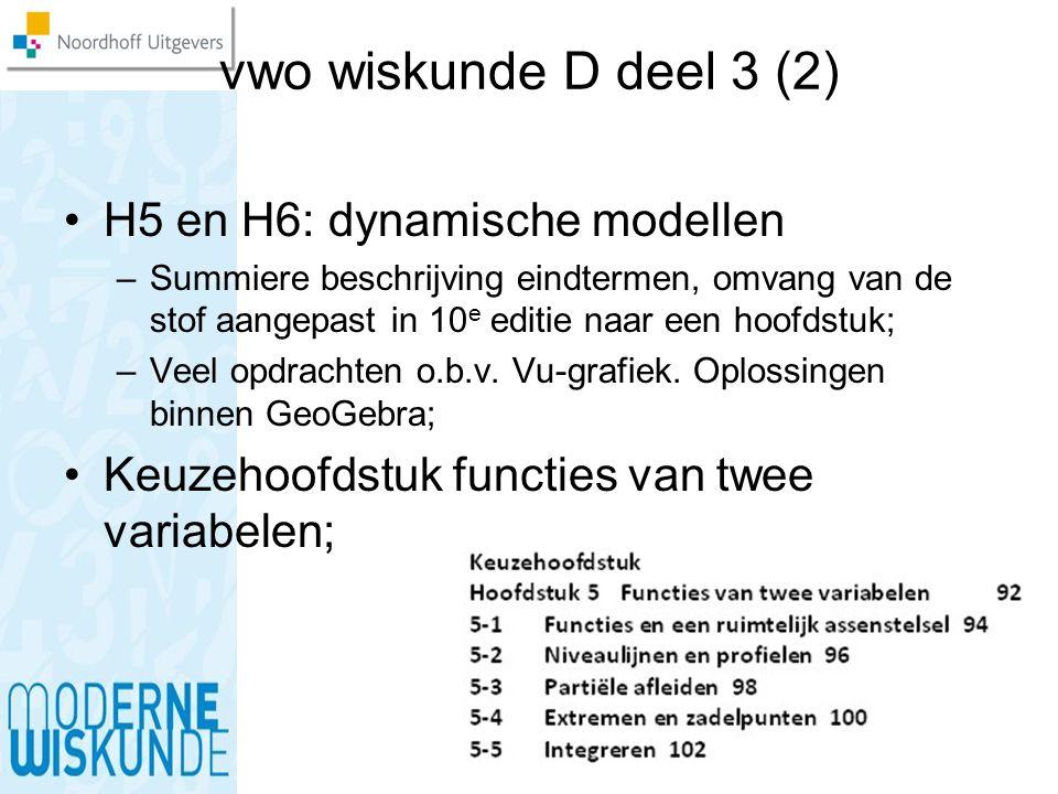 vwo wiskunde D deel 3 (2) H5 en H6: dynamische modellen