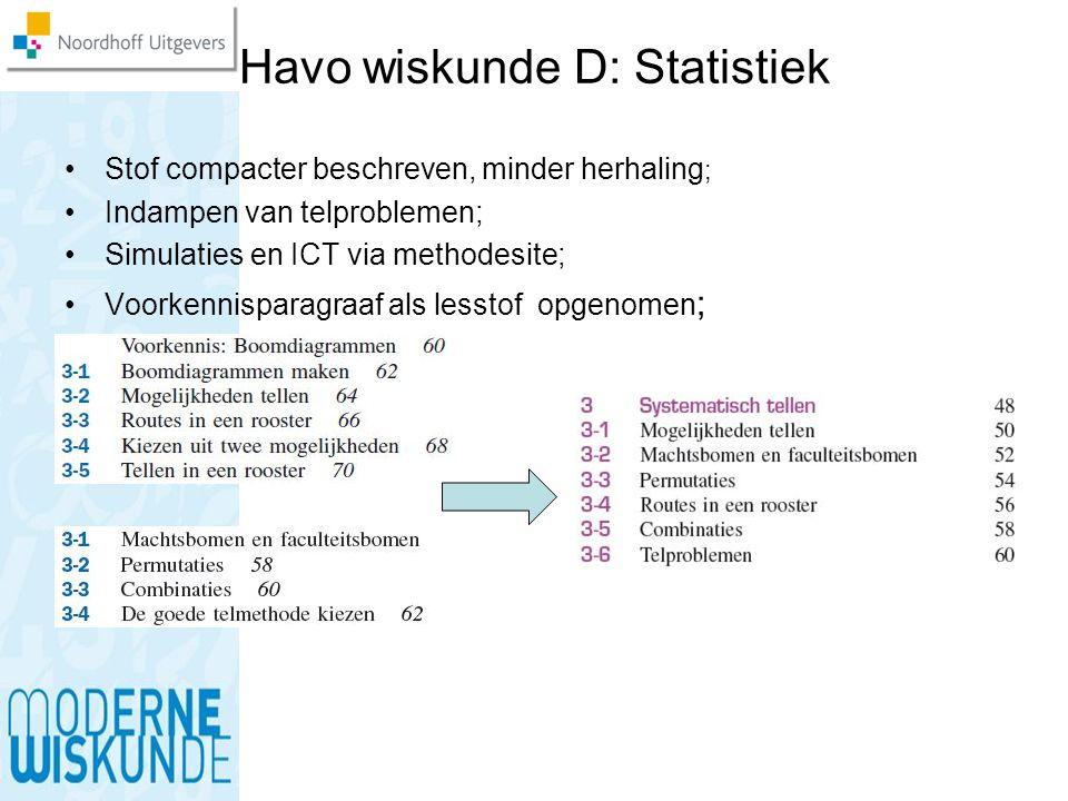 Havo wiskunde D: Statistiek