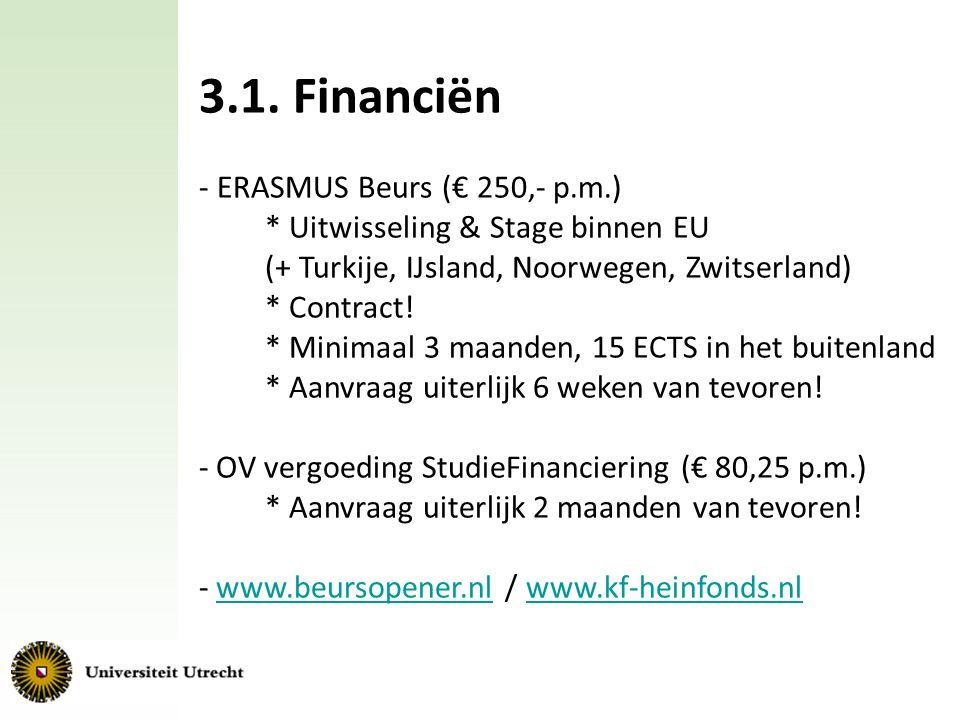 3.1. Financiën