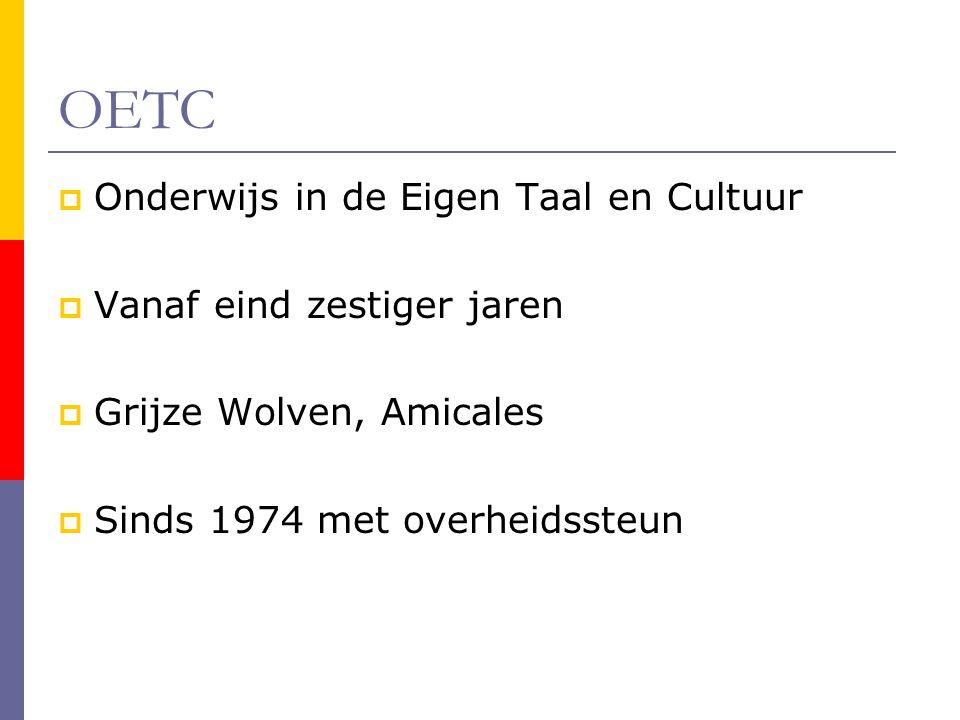 OETC Onderwijs in de Eigen Taal en Cultuur Vanaf eind zestiger jaren