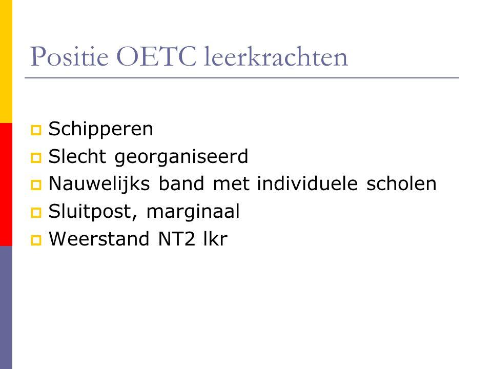 Positie OETC leerkrachten