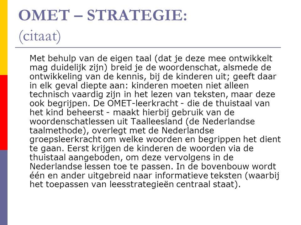 OMET – STRATEGIE: (citaat)